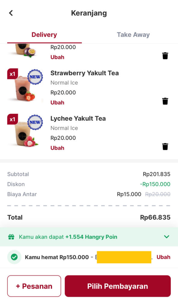 hangry app aplikasi food delivery 2020